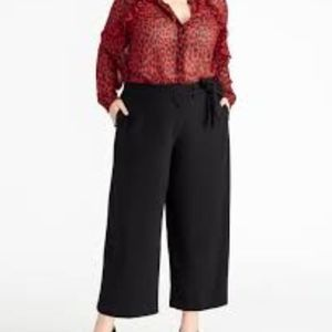 Rachel Roy Collection TIE FRONT CROPPED PANT 20W